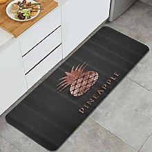 Anti-Fatigue Kitchen Floor Mat,Rose Gold Foil
