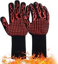 Anti-heat barbecue gloves 1 pair   Anti-slip
