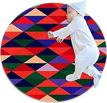 Anti-Slip Area Rug Colorful Abstract Background