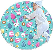 Anti-Slip Area Rug Decorative Easter Background