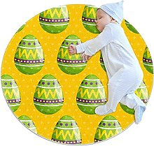 Anti-Slip Area Rug Easter Egg With Figures