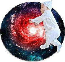 Anti-Slip Area Rug Galaxy Nebulae Space Round