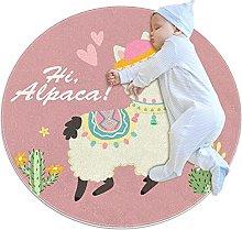 Anti-Slip Area Rug Hi Alpaca ! Lovely Alpaca &