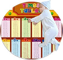 Anti-Slip Area Rug Multiplication Table Round