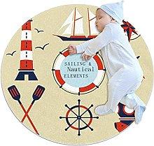 Anti-Slip Area Rug Sailing Nautical Lighthouse