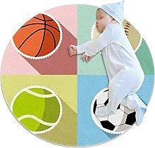 Anti-Slip Area Rug Sport Ball Basketball