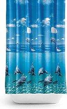 Antibacterial Fabric Shower Curtain Extra Long