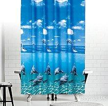Antibacterial Fabric Shower Curtain, Narrow Width