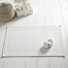 Antibes Bath Mat, White, Medium