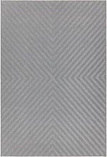 Antibes Indoor/Outdoor Arrow Textured Grey Rug -