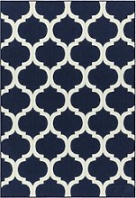 Antibes Indoor/Outdoor Textured Blue & White Rug