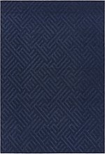 Antibes Indoor/Outdoor Textured Blue & White Rug -