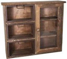 ANTIC LINE - Glass Door and Mesh Drawers Cabinet