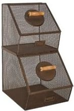 ANTIC LINE - Set 2 Stackable Basket with Front