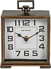 Antique Analog Metal Quartz Tabletop Clock in