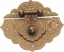 Antique Brass Box Hasp Latches Chinese Old Lock