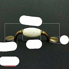 Antique Bronze Crack Design Ceramic Handles