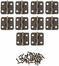 Antique Bronze Hinges 10Pcs 30x25mm Antique Bronze