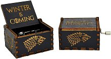 Antique Carved Wood Music Box Music: Game of
