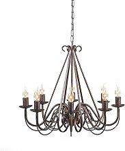 Antique chandelier brown 8-light - Giuseppe 8