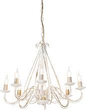 Antique chandelier cream 8-light - Giuseppe 8
