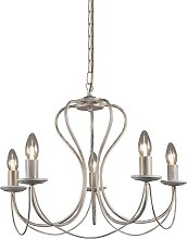 Antique chandelier cream with gold 5 lights - Como