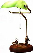 Antique Classic Bankers Desk Lamp / Retro LED