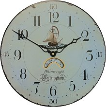 Antique  Clock Face with Ship Motif - 36cm
