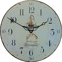 Antique Clock Face with Ship Motif - 36cm