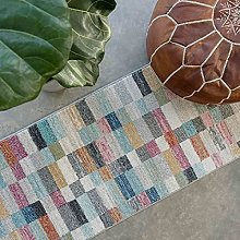 Antique Distressed Navy Blue Striped Patchwork