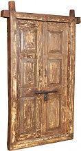 ANTIQUE DOOR WITH FINELY RESTORED TEAK WOOD FRAME