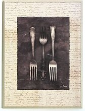 Antique Forks Painting Print Brambly Cottage