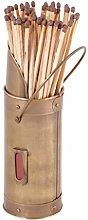 Antique Metal Fireside Match Stick Holder with