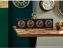 Antique Oblong Mantel Clock Corrigan Studio