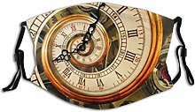 Antique Old Clock Fashionable Detail Time Spiral
