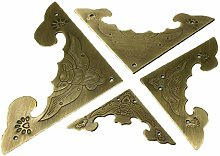 Antique Pure Copper Angle, Cabinet Box Drawer Bag,