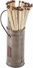 Antique Silver Fireside Accessory Matches Holder