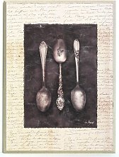 Antique Spoons Painting Print Brambly Cottage