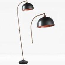 Antique Style Floor Lamp in Industrial Nickel