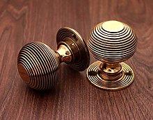 Antique Style Solid Brass Beehive Door Knob 50mm