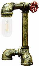 Antique Table Lamp,Steampunk Water Pipe Desk Lamp