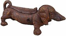 Antique Victorian Cast Iron Daschund Puppy Dog