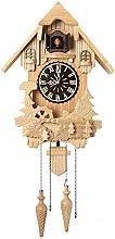 Antique Wooden Cuckoo Bird Wall Clock Home Office