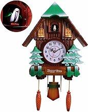 Antique Wooden Cuckoo Clock, Living Room Wall