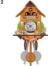 Antique Wooden Cuckoo Wall Clock Bird Time Bell