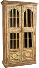 Antiqued finish recycled solid wood cabinet