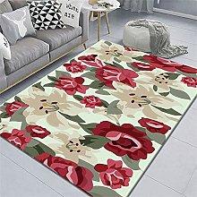 antistatic mats Red carpet, floral pattern,