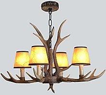 Antler Chandelier Faux Deer Horn Resin Ceiling