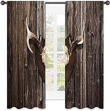 Antler Decor Blackout curtain, Rustic Home Cottage
