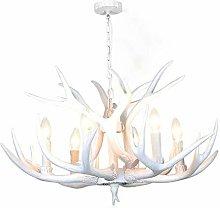 Antler Light, 6 Lights Vintage Style Resin Pendant